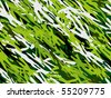 Angular seamless camouflage with several shades of green. - stock vector