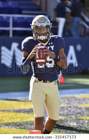 ANNAPOLIS, MD - OCTOBER 31: Navy Midshipmen quarterback Keenan Reynolds (19) warms up prior to the AAC game October 31, 2015 in Annapolis, MD.