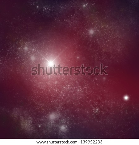 anonymous galaxy on dark red sky.