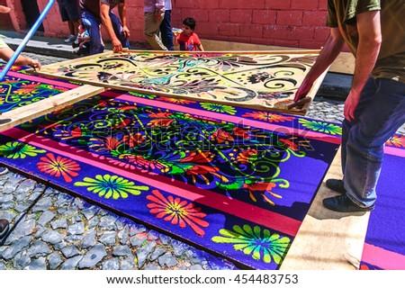 Antigua Guatemala April 2 2015 Locals Stock Photo