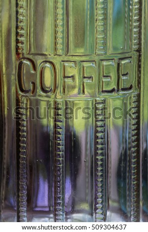 Antique coffee canister