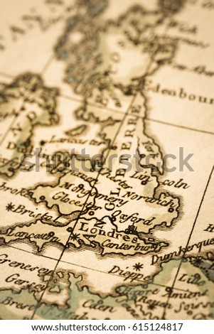 World map antique greece stock photo 338615825 shutterstock antique old map england gumiabroncs Gallery