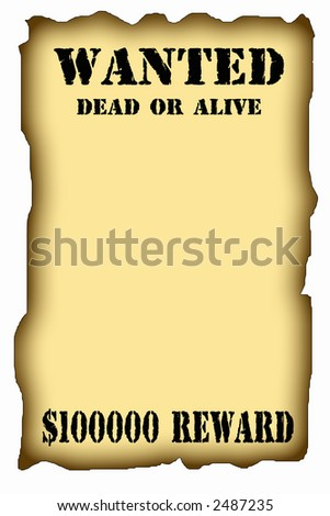 antique page - wanted dead or alive