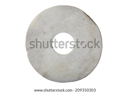 Antique round stone