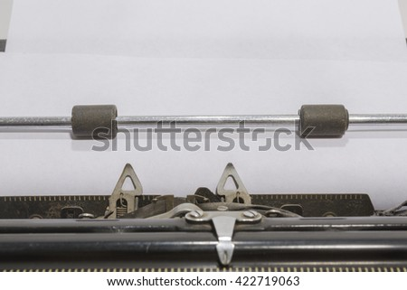 antique typewriter Close up