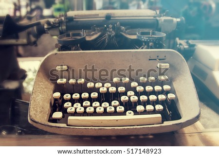 Antique Typewriter, closeup