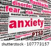 Anxiety disorder symbol  message conceptual design - stock photo