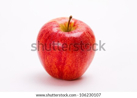 Appetizing apple isolated on white background.