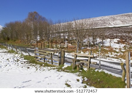 April in the North York Moors, late morning after a heavy snow storm with the sun shining.