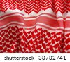 Arab keffiyah pattern closeup. More of this motif & more fabrics in my port. - stock photo