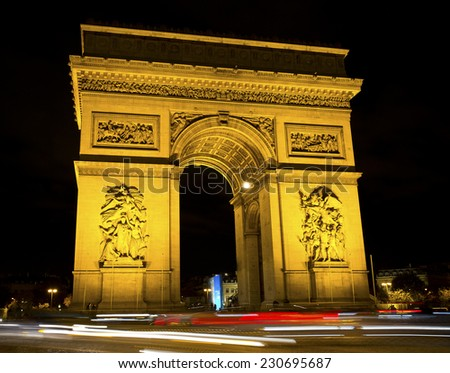 Arc de Triomphe at night / Paris