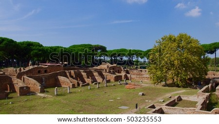 "Archaeological site of ""Ostia antica"""