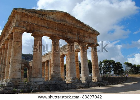 archaeological site of Segesta in Sicily during the summer