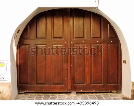 Old Wooden Castle Door Stock Photo 299337 - Shutterstock