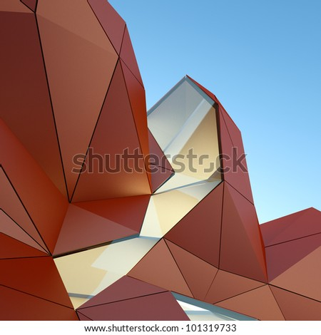 architectural background, 3d rendering image