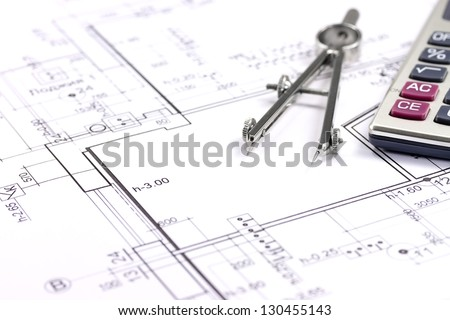 Architectural blueprints stock photo 373686586 shutterstock for Blueprint estimator