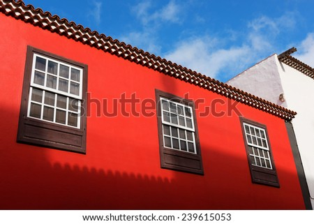 Architectural detail in San Cristobal de La Laguna,Tenerife, Canary Islands