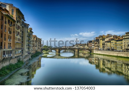Architectural detail of Florence, summer season - Italy