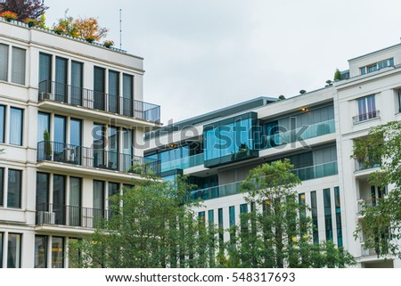 Modern Urban Apartment Building townhouses stock photo 404435185 - shutterstock