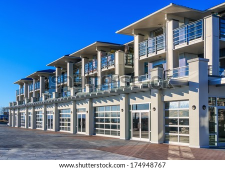 modern apartment building facade. Architectural details of modern apartment building  Wall Modern Apartment Building Vancouver Bc Stock Photo 396200164