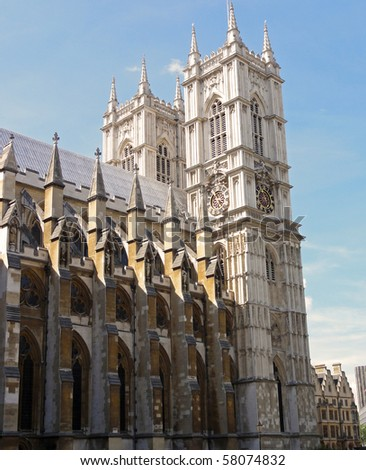 Architecturally beautiful Westminster Abbey in central London