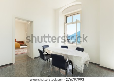Architecture, dining room of a classic apartment