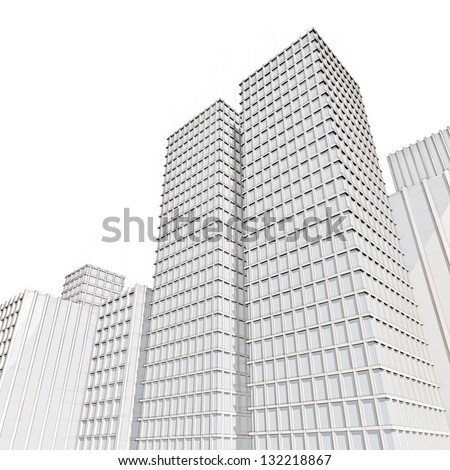 Architectural Drawings Of Skyscrapers line drawing city residential street stock illustration 127850762