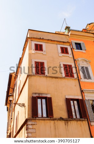 Architecture of the Historic Center of Rome, Italy
