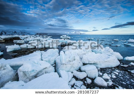 Arctic spring in south Spitsbergen.