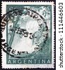 ARGENTINA - CIRCA 1955: a stamp printed in the Argentina shows Iguacu Falls, circa 1955 - stock photo