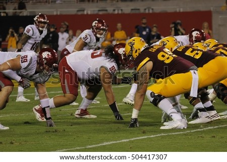 Arizona State University vs Washington State University at Sun Devils Stadium in Tempe Arizona USA October 22,16.
