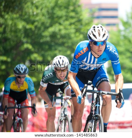 ARLINGTON, VIRGINIA - JUNE 8: Cyclists compete in the Men's Pro Invitational at the U.S. Air Force Cycling Classic on June 8, 2013 in Arlington, Virginia