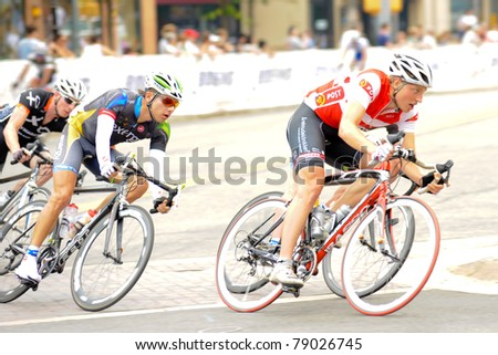 ARLINGTON, VIRGINIA - JUNE 11: Cyclists compete in the U.S. Air Force Cycling Classic on June 11, 2011 in Arlington, Virginia.