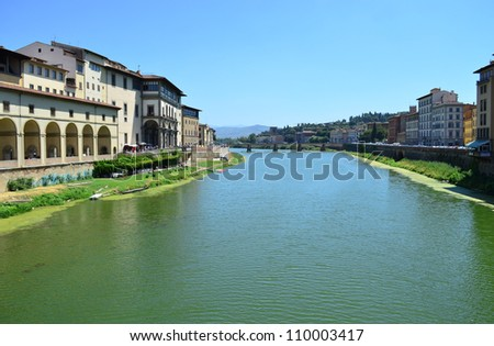 Arno River in Florence - Italy