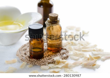 aromatherapy treatment with dried coconut