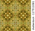 art eastern ornamental traditional pattern in green - stock photo