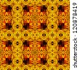 art eastern ornamental traditional pattern in yellow and red colors - stock photo