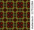 art eastern ornamental traditional pattern with red and green - stock photo