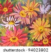 art floral vintage colorful background - stock photo