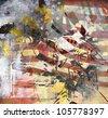 Art grunge background, color illustration - stock photo