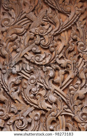 art of wood carving. Thai style