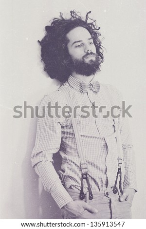 art photo of handsome man, vintage style