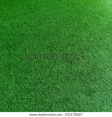 Artificial green grass.