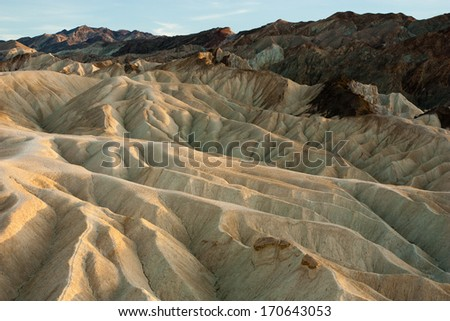 Artist Palette and badlands at Death Valley National Park, California