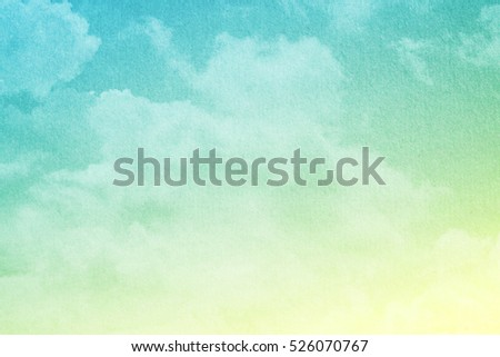 artistic soft cloud and sky with pastel gradient color and grunge texture