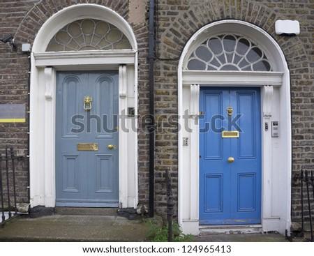 Blue door ornament symbol sidi bou stock photo 474000280 for Entrance to rivet city