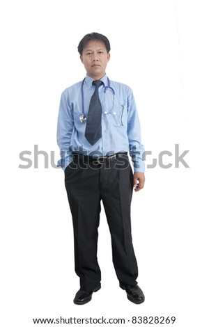 asia man standing over white