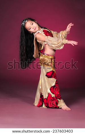Asian girl in dance