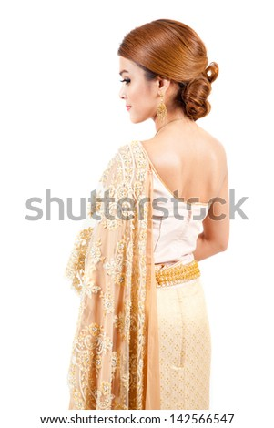 asian thai couple  in thai wedding suit