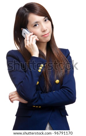 asian woman on phone call